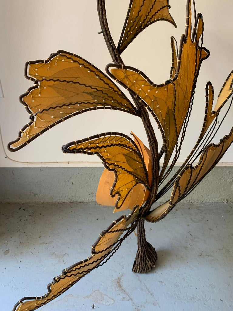 Autumn Leaves & Branches Wall Sconces, a Pair In Good Condition For Sale In New York, NY