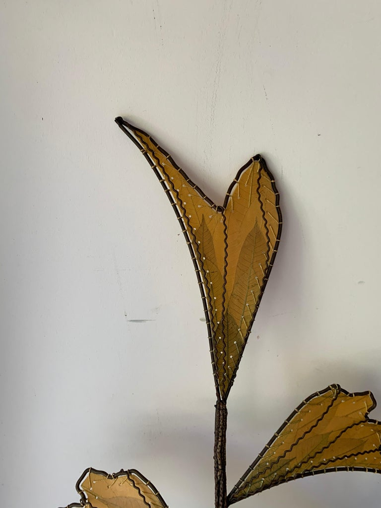 Autumn Leaves & Branches Wall Sconces, a Pair For Sale 1