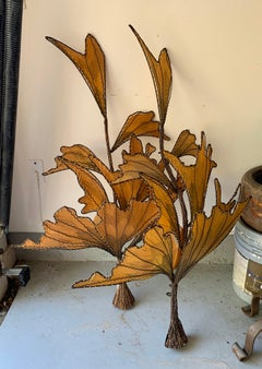 Autumn Leaves & Branches Wall Sconces, a Pair