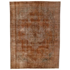 Autumn Maple Distressed Vintage Turkish Rug with Rustic Industrial Luxe Style