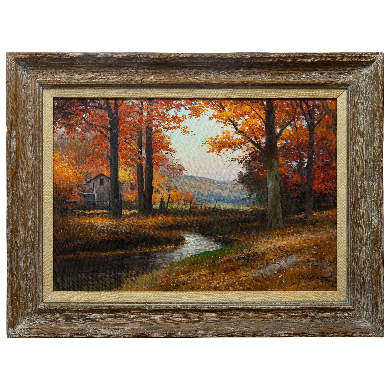 Autumn Scene Original Oil Painting by Robert William Wood