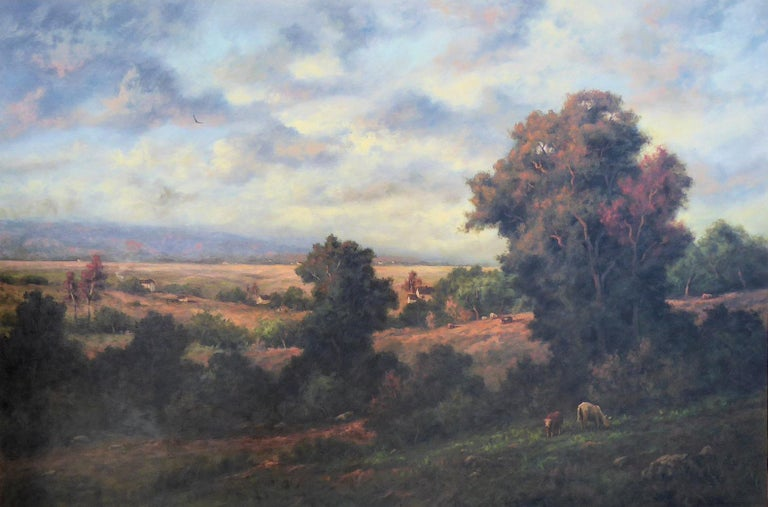 """(1937- ). Oil on board; 30"""" x 48"""". Hartwig has won many awards, including the Triton Museum Competition. His paintings have sold at auction - Butterfields, Christie's and Phillips of London. He's professionally listed in art references, including"""