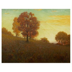 """Autumn Trees"" Landscape Painting by Clark Summers Marshall"