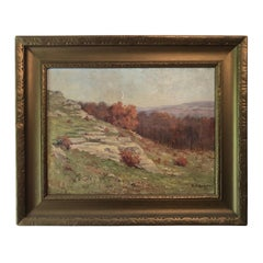 Autumnal Hillside Landscape by Mabel E. Dickinson Pond, 1911