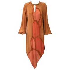 Autumnal Tie Dye Dress, Provenance, Wardrobe of Lillian Gish