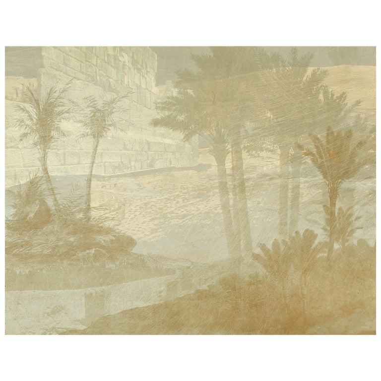 Aux portes de l'Atlas - custom mural wallpaper (color sand) For Sale