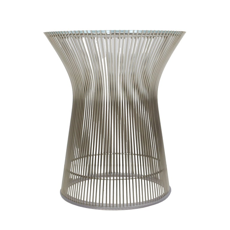 Auxiliary Table Designed by Warren Platner For Sale