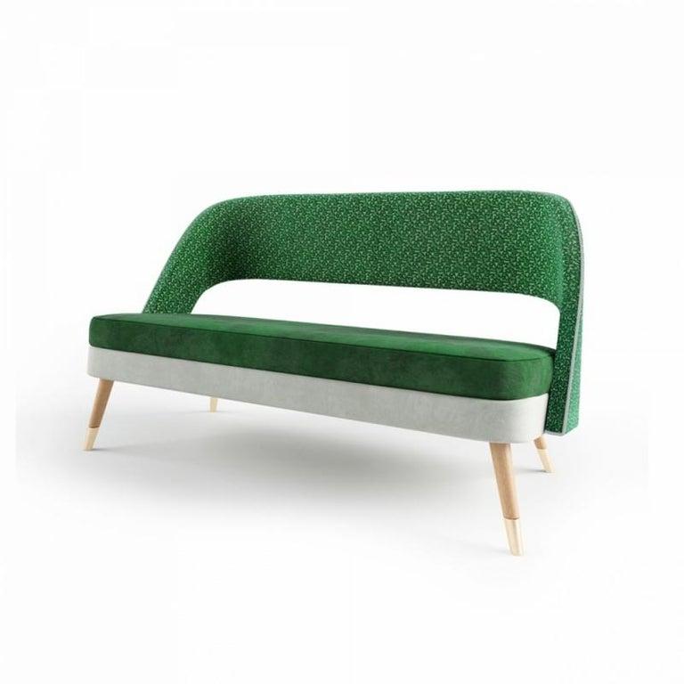 Mid-Century Modern Ava Settee 3-Seat For Sale