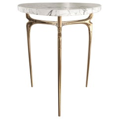 Polished Bronze and Marble Top Design by Michael Sean Stolworthy - Avalon Table
