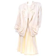Avant Garde 1980s Gene Ewing 3pc Vintage Skirt Sequin Top & Oversized Jacket