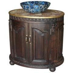 Avant Garde Custom Handcrafted Semi-Precious Stone Bathroom Sink