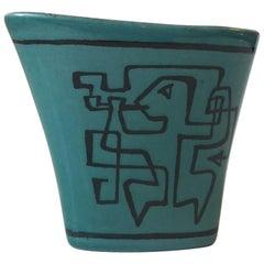 Avant-Garde Pottery Vase 'Fantasia' by Gunnar Nylund for Nymølle, Denmark, 1964
