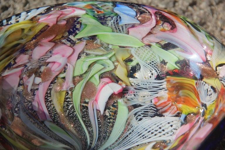 Avem Bowl Glass Murano Italian Design, 1950s Multicolor Toso Martens For Sale 5