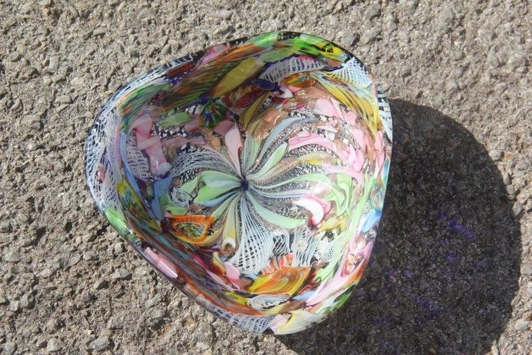 Avem Bowl Glass Murano Italian Design, 1950s Multicolor Toso Martens In Good Condition For Sale In Palermo, Sicily