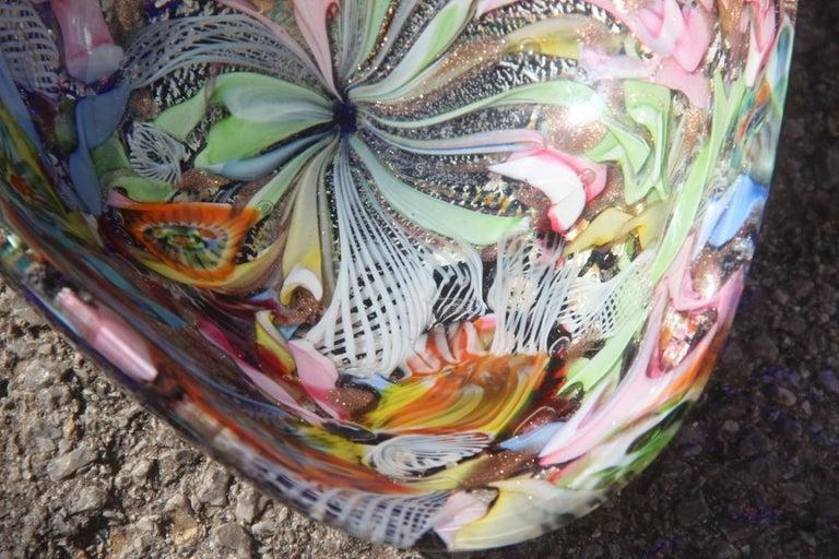 Murano Glass Avem Bowl Glass Murano Italian Design, 1950s Multicolor Toso Martens For Sale