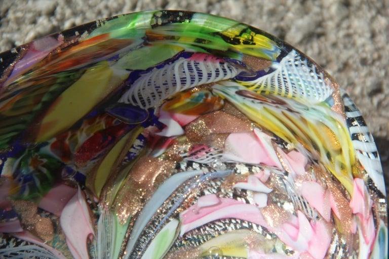 Avem Bowl Glass Murano Italian Design, 1950s Multicolor Toso Martens For Sale 1