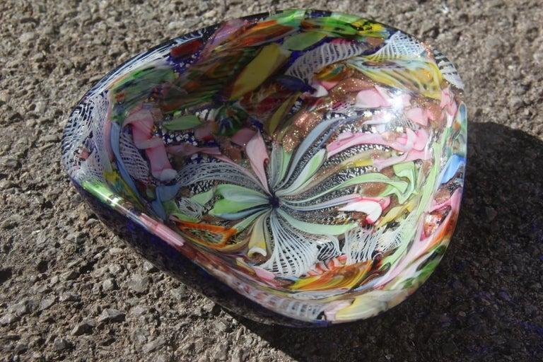 Avem Bowl Glass Murano Italian Design, 1950s Multicolor Toso Martens For Sale 2