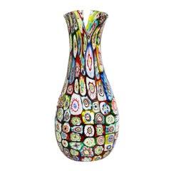 "A.V.E.M. Large Hand-Blown ""Murrine Giganti"" Vase, 1960"