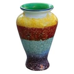 Avem Midcentury Italian Design Murano Vase Multi-Color, 1950s