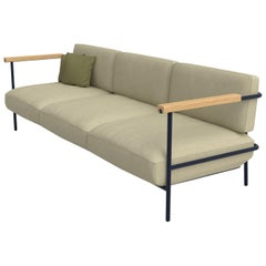 Avenida Mexico Outdoor Three-Seat Sofa, Powder-Coated Metal and Fabric