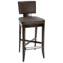Avenue Counter Stool with Dark Wood Finish by Powell & Bonnell