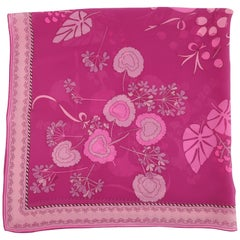 Averardo Bessi Mod Pink Silk Chiffon Scarf, C.1970