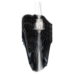 In Stock in Los Angeles, Avia Black Suspension Lamp by Zaha Hadid, Made in Italy