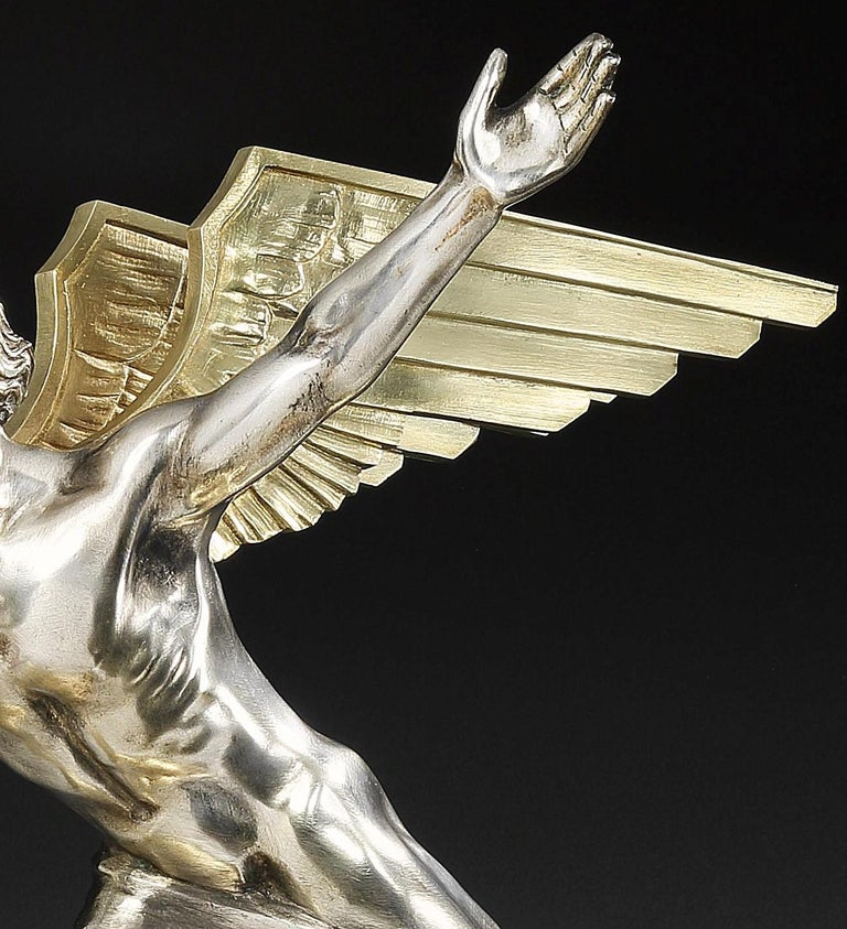 Early 20th Century 'Aviation' Art Deco Bronze by Frederic Focht, 1925 For Sale