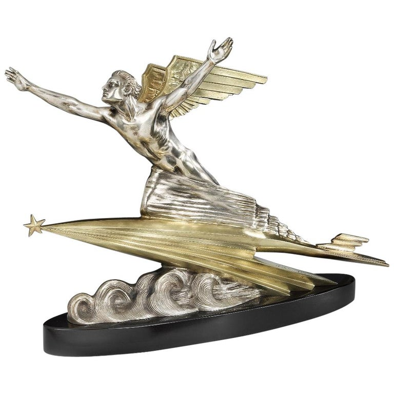 'Aviation' Art Deco Bronze by Frederic Focht, 1925 For Sale