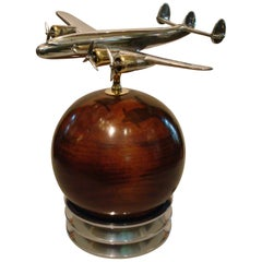 Aviation Lockheed Constellation Vintage Desk Airplane Model