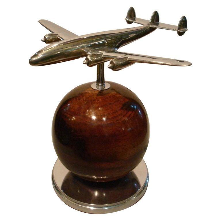Aviation Lockheed Super Constellation Vintage Desk Airplane Model, circa 1950s For Sale