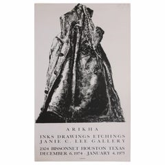 Arikha Ink Drawings Etchings Gallery Poster from Janie C. Lee Gallery