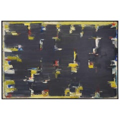 Avshalom Okashi 'Israeli 1916-1980', Large Oil on Canvas