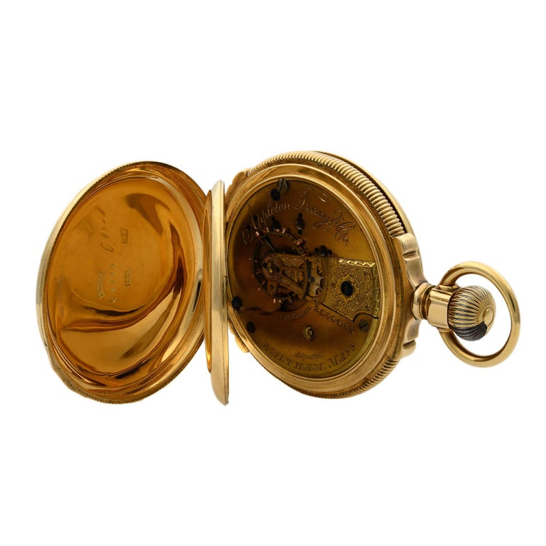 This watch was produced circa 1890s The dial has minor cracks near subdial as visible in pictures Crown is covered with 14k Gold Layer, Gold is ripped off from crown as visible in pictures Total Weight of the watch is 132.5 grams