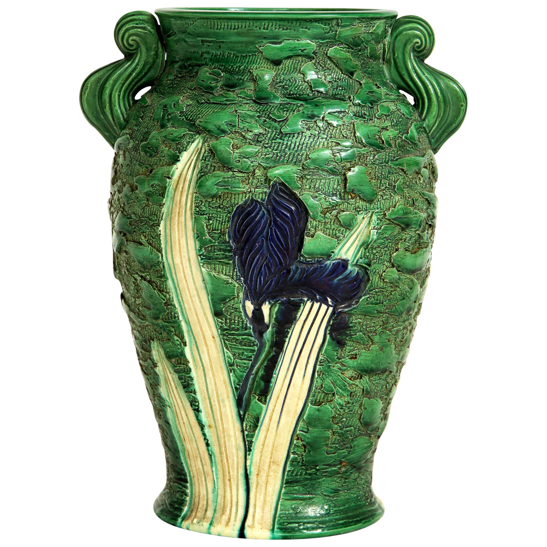Awaji Pottery Vase, circa 1920s