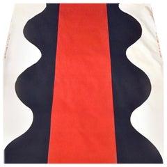 Awatsuji Hiroshi Modern Wave Textile for Feiji Japan, 1960s, Midcentury