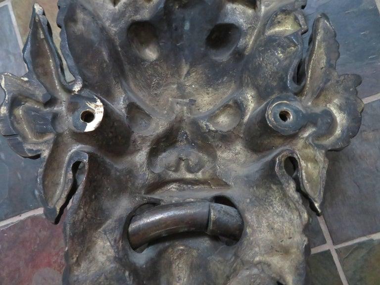 Awesome Antique Italian Bronze Vecchio Greenman Door