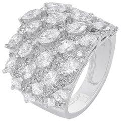 Awmaj White Gold 18 Karat Ring with Diamonds