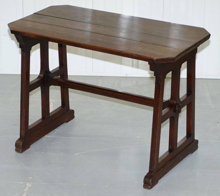 A W N Pugin Gothic Revival Vestry Writing Table Desk Made