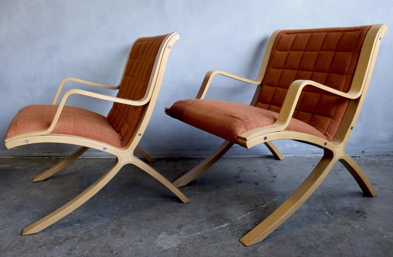 AX Lounge Chairs by Peter Hvidt & Orla Mølgaard Nielsen for Fritz Hansen For Sale 4