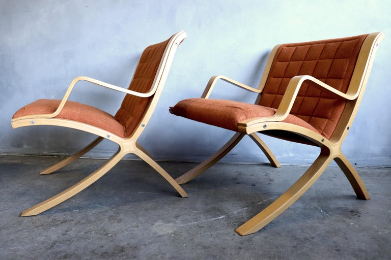 AX Lounge Chairs by Peter Hvidt & Orla Mølgaard Nielsen for Fritz Hansen For Sale 5
