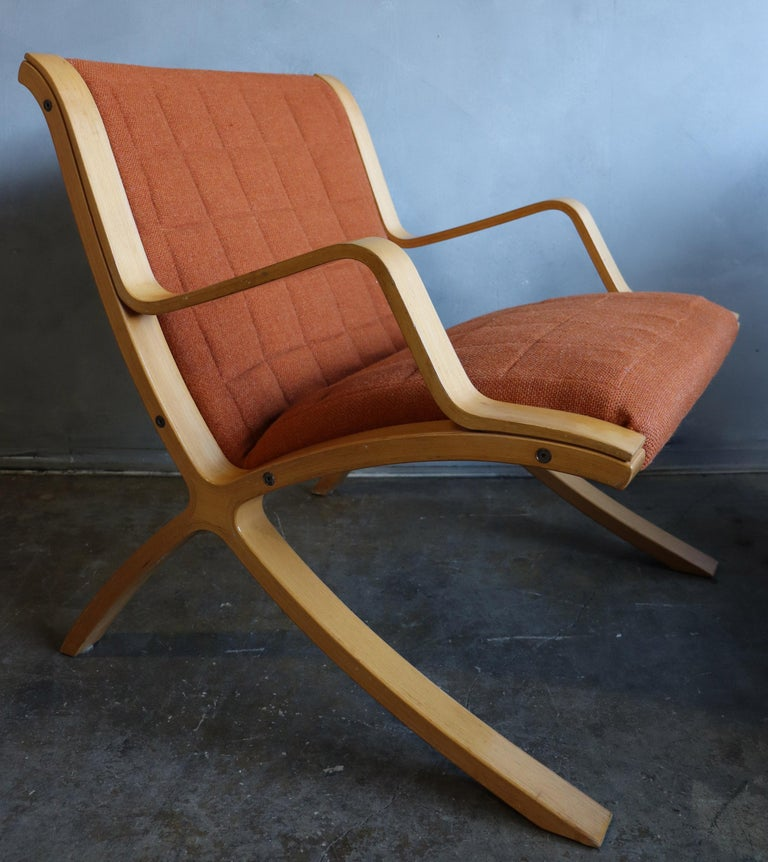 Mid-Century Modern AX Lounge Chairs by Peter Hvidt & Orla Mølgaard Nielsen for Fritz Hansen For Sale