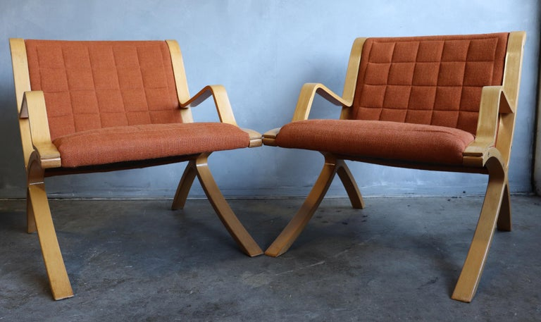 20th Century AX Lounge Chairs by Peter Hvidt & Orla Mølgaard Nielsen for Fritz Hansen For Sale