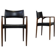 Axel Bender Madsen Rosewood Dining Arm Chairs