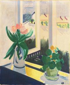 'Summer Still Life with Tulips', Danish Post Impressionist Oil, Paris, Benezit