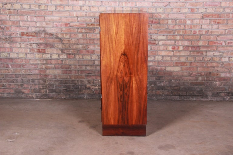 Axel Christiansen Odder Danish Modern Brazilian Rosewood Bar Cabinet, 1960s For Sale 9