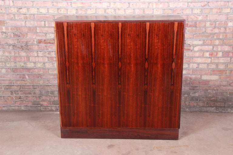 Axel Christiansen Odder Danish Modern Brazilian Rosewood Bar Cabinet, 1960s For Sale 10