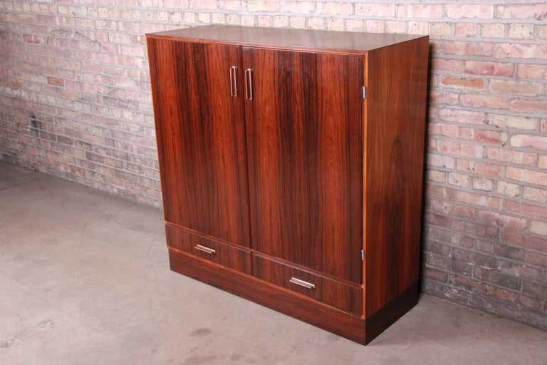 A rare and exceptional Danish modern bar cabinet