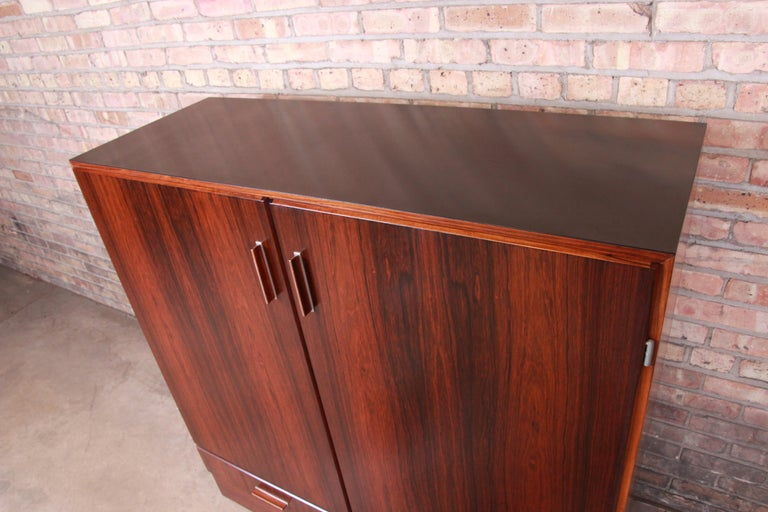 Mid-20th Century Axel Christiansen Odder Danish Modern Brazilian Rosewood Bar Cabinet, 1960s For Sale