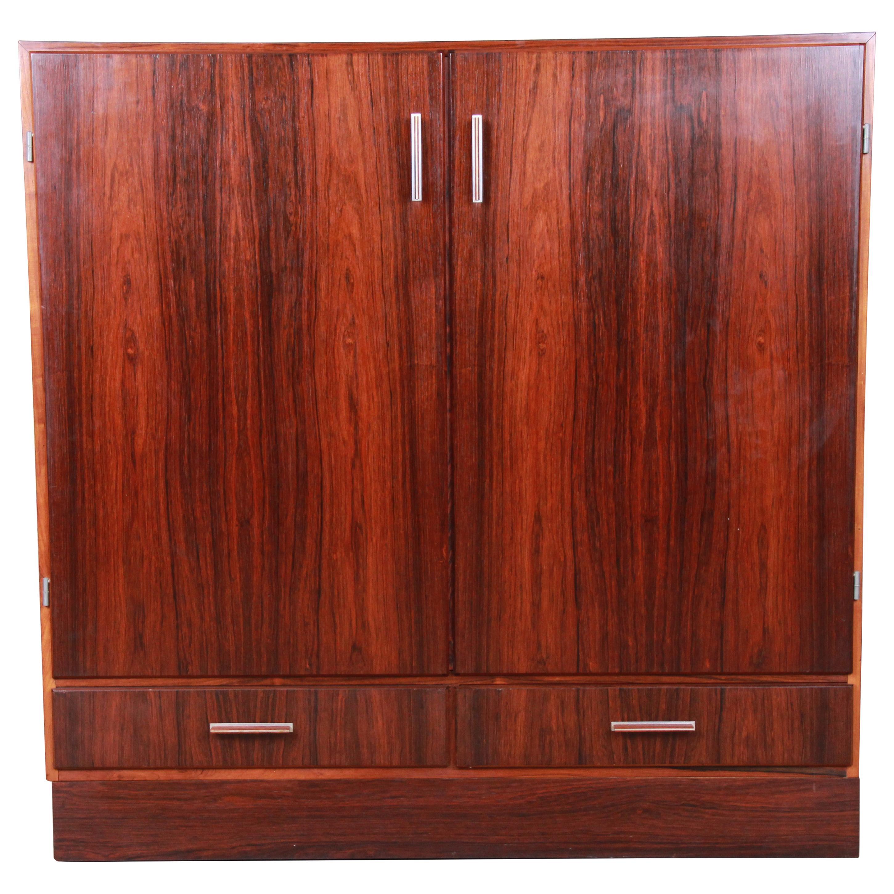 Axel Christiansen Odder Danish Modern Brazilian Rosewood Bar Cabinet, 1960s